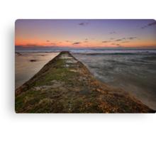 Bar Beach at Dusk 3 Canvas Print