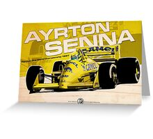 Ayrton Senna - F1 1987 Greeting Card