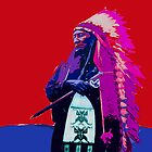 Indian Chief - Red White and Blue by Tracy Lee Mead