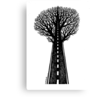 Road and tree Canvas Print