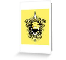 Croceus Smilodon fatalis Greeting Card