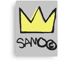 Basquiat SAMO Crown Canvas Print