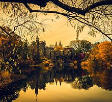 Autumn Reflections at Belvedere Castle by Chris Lord