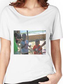 MALAGASY CHILDREN ENOYING TREATS NOSY KOMBA Women's Relaxed Fit T-Shirt