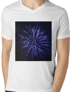 Fireworks - Blue Streak Mens V-Neck T-Shirt