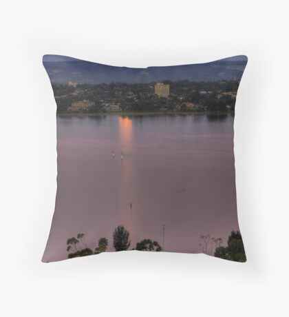 Moonrise Over The Swan River Throw Pillow