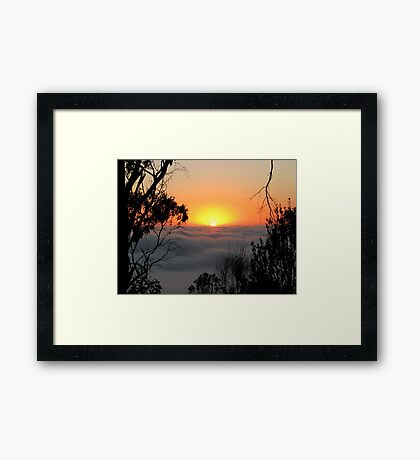 Sunrise - Mount Barker Summit Framed Print