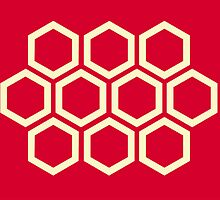 ROUGE HEXAGON by Shane Connor Digital Artworks