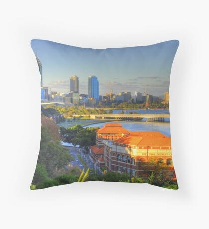 The Old Swan Brewery Throw Pillow