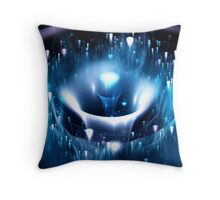 Blue Fountain Throw Pillow