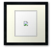 Broken Internet Image Icon Framed Print