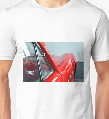 Detail of red sport curvy car Unisex T-Shirt
