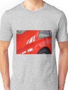 Detail of red sport curvy car Unisex T-Shirt
