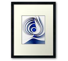 Blue Imprint Framed Print