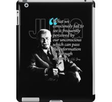 A Quote from Carl Gustav Jung Quote #45 of 50 available iPad Case/Skin