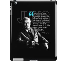 A Quote from Carl Gustav Jung Quote #49 of 50 available iPad Case/Skin