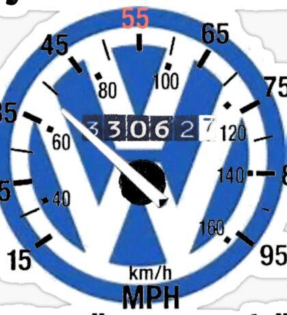 VW Speedometer  Sticker