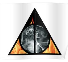 Fire & Smoke - Deathly Hallows Poster