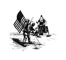 Apollo Moon Landing Photographic Print