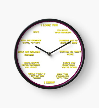 I love you.....I Know - Leia Inspired Clock Clock