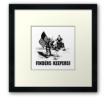 Finders Keepers Moon Landing Framed Print