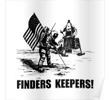 Finders Keepers Moon Landing Poster