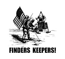 Finders Keepers Moon Landing Photographic Print