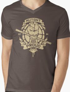 Mutant and Proud! (Donnie) Mens V-Neck T-Shirt