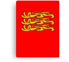 Royal Banner of England, Three Lions, 3 Lions, English, British, Britain, UK, RED Canvas Print