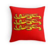 Royal Banner of England, Three Lions, 3 Lions, English, British, Britain, UK, RED Throw Pillow