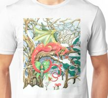 Snow dragon and his fairy Unisex T-Shirt