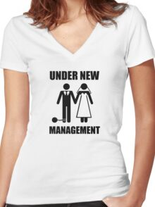 Just Married, Under New Management Women's Fitted V-Neck T-Shirt