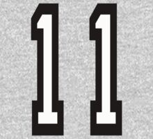 TEAM SPORTS, NUMBER 11, Eleven, 11, Eleventh, Competition Kids Clothes
