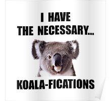 Koala Qualifications Poster