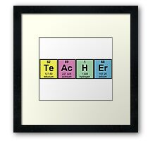 Science Teacher Chemical Elements Framed Print