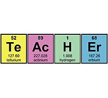 Science Teacher Chemical Elements Photographic Print