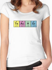 Science Teacher Chemical Elements Women's Fitted Scoop T-Shirt