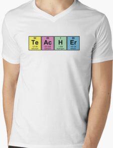 Science Teacher Chemical Elements Mens V-Neck T-Shirt
