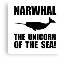 Narwhal Unicorn Canvas Print