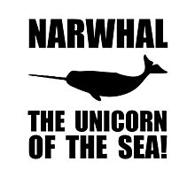 Narwhal Unicorn Photographic Print