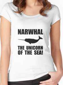 Narwhal Unicorn Women's Fitted Scoop T-Shirt