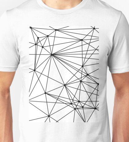 Black & White Geometric Web Unisex T-Shirt