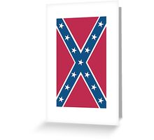Confederate, Southern Cross, Rebel, Dixie, Flag, Portrait, Pure & Simple, pre USA Greeting Card