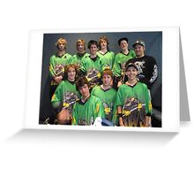 16 and Under team Winter 2007 season Greeting Card