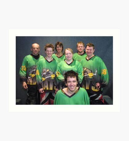 Senior B team Winter 2007 season Art Print
