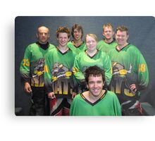 Senior B team Winter 2007 season Metal Print