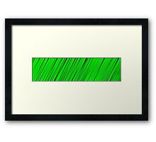 A blade of grass Framed Print