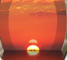 SUNSET OVERFLOW Sticker