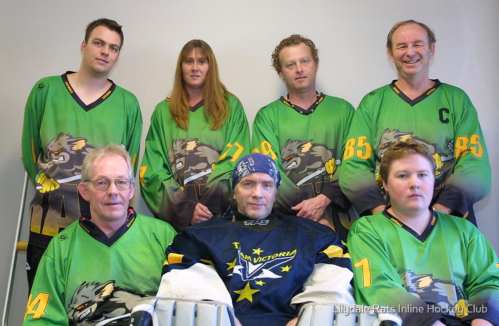 Senior C (Black) team Winter 2007 season by Lilydale Rats Inline Hockey Club