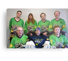 Senior C (Black) team Winter 2007 season Metal Print